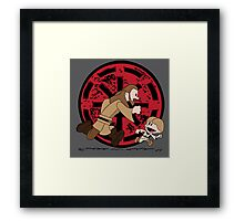 Lets Be Jedi (Qui Gon & Anakin EP1) Framed Print