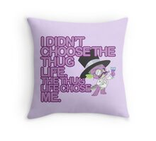 Spike - Thug Life Throw Pillow