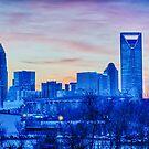 charlotte skyline by Alexandr Grichenko
