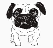 pug sketch Kids Clothes