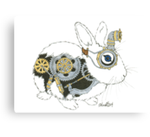Daily Doodle 33 - Robot - Steampunk Bunny -Elvis Canvas Print