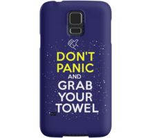 Don't Panic and Grab Your Towel Samsung Galaxy Case/Skin