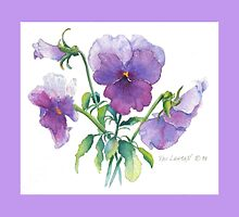 Lavender Pansies Throw Pillow! by Pat Yager