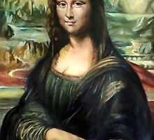 Monna Lisa after Leonardo da Vinci by Hidemi Tada