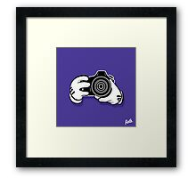 Camera Hands Framed Print