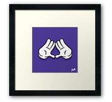 Diamond Hands Framed Print