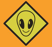 Alien sign crossing by jazzydevil