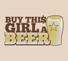 BUY this girls a BEER with beer glass by jazzydevil