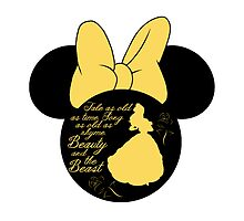 Minnie Mouse Belle Beauty and the Beast silhouette by sweetsisters