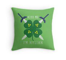 Kiss Me I'm Hylian Throw Pillow