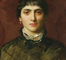 Portrait of a Woman with Dark Hair by Bridgeman Art Library