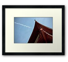 red chinese roof Framed Print