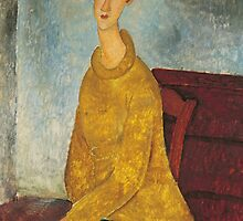 Jeanne Hebuterne in Yellow Sweater by Bridgeman Art Library