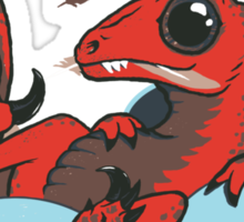 Raptor Among The Robins Sticker