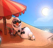 Olaf at the sea by dadha21