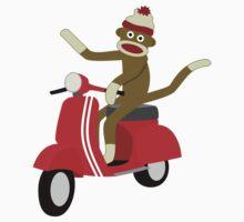 Sock Monkey Vespa Scooter by pounddesigns
