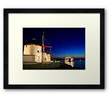 The windmills of Myconos Framed Print