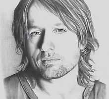 Keith Urban in Pencil by Karen E. Marvel