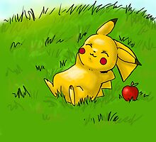 Relaxed Pikachu by KayWanderer