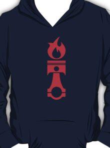 Flaming Piston (red) T-Shirt