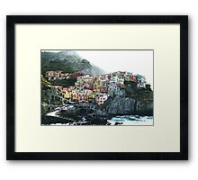 One of the villages of the Cinque Terre, Italia Framed Print