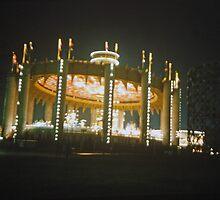 New York State Pavilion Evening by John Schneider