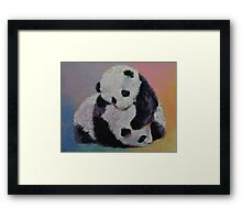 Baby Panda Rumble Framed Print