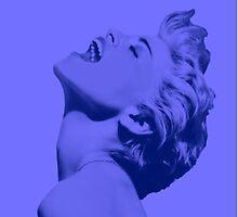 Madonna Pop Goddess (Blue Variation) by Ged J