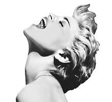 Madonna Pop Goddess (Enhanced Black & White Variation) by Ged J