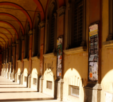 The porticos of the old city Sticker