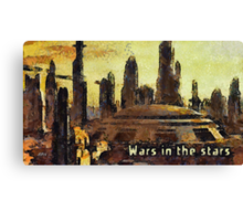 Wars in the stars Canvas Print