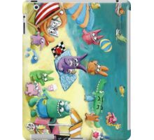 Monster Summer Time on the Beach iPad Case/Skin