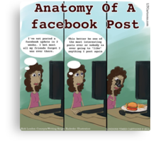 Anatomy Of A facebook Post Canvas Print