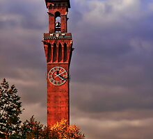 Clock Tower - Waterbury, Connecticut by David Marciniszyn