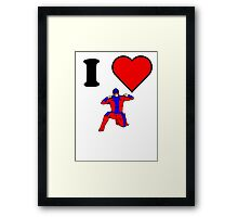 I Heart Wrestling Framed Print