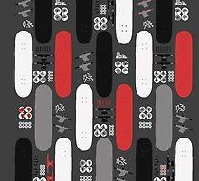 Skateboard Assembly Pattern (GRB) by BGWdesigns