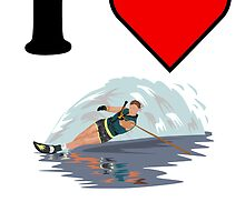 I Heart Waterskiing by kwg2200