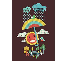 After the rain comes the rainbow Photographic Print