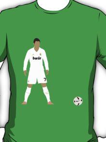 Cristiano Ronaldo Minimalist Design with ball T-Shirt