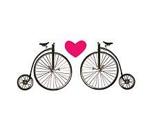 Vintage bicycle love design by artisticattitud