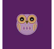 Purple Owl Photographic Print