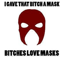 Kane - Love Masks (Explicit) (Black Text) by JSGoodman