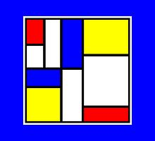 Mondrian Block Colour Collection No.6 by Ged J