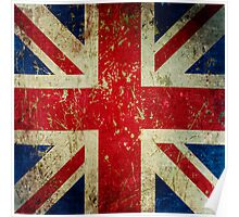 Grunge Union Jack - Scratched Metal Effect Poster