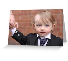 Formal Little Man Greeting Card