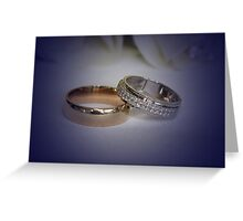 To have and to hold.. Greeting Card