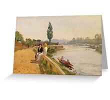 The Thames at Hampton Court Greeting Card