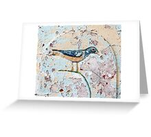 Wall Bird Greeting Card