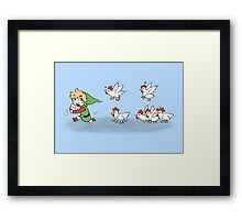 Chicken Run!!  Framed Print