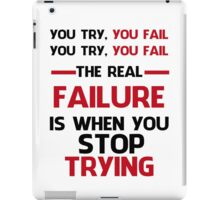 NEVER STOP TRYING - BLACK&RED iPad Case/Skin